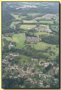 Aerial view showing the Beeches