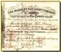 £5 gas share certificate