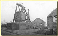 Halesfield Colliery upcast shaft pit head