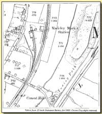 Station on Ordnance Survey map