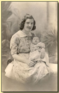 Reg Oliver's wife and baby